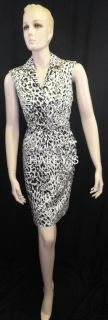 New Marvin Richards Belted Green Black Grey White Career Dress Misses