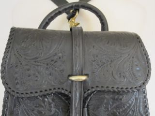Mary Alice Palmer Hand Tooled Leather Western Style Backpack
