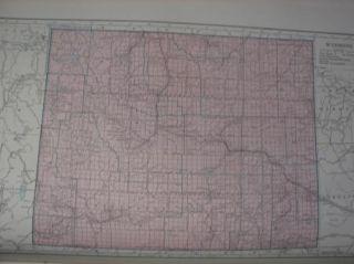 Antique Map of Wyoming 1947 Atlas Print 11 x 18