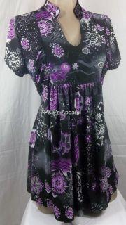 New Womens Maternity Clothes s M L XL Black Purple Shirt Top Blouse