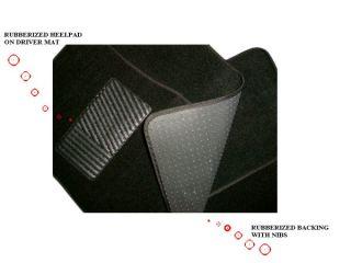 New Black Carpet Car Truck Auto Interior Floor Mats Set 1