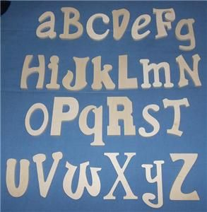 Complete Alphabet Set Various Fonts 6 Size Unpainted Wood Wall