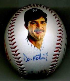 Mickey Mantle Don Mattingly Signed Baseball PSA DNA