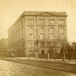 Real Nice Stereoview of The Cooper Union Building in New York City