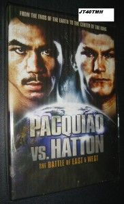 Manny Pacquiao vs Hatton The Battle of East DVD Boxing