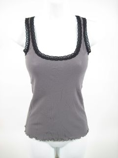 Mary Jo Bruno Gray Silk Sleeveless Tank Top Shirt M