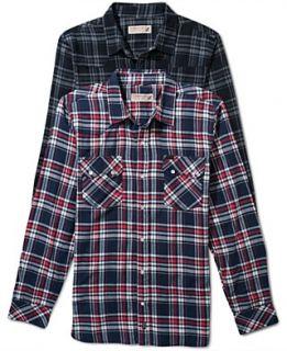 Alfani Big and Tall Shirt, Long Sleeve Hinkley Stretch Shirt