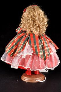 TREASURES Tartan Plaid Mary Margaret Animated Holiday Christmas Doll