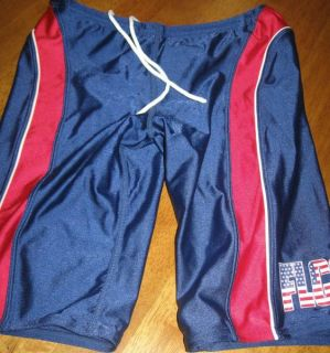 Jammers Swimsuit 30 Long Shorts Competitive Blue Red White