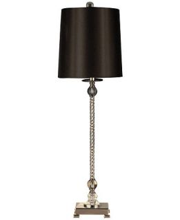 Dale Tiffany Table Lamp, Crystal Buffet Black   Lighting & Lamps   for
