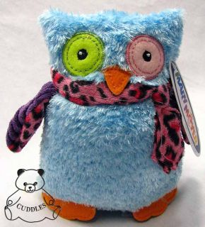 Marys Owl Blue Bird Mary Meyer Plush Toy Stuffed Animal Leopard Print
