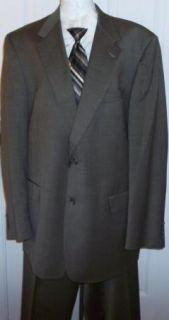 Fine Hart Schaffner Marx of Von Maur Wool Suit Mens 46L Brown Clean