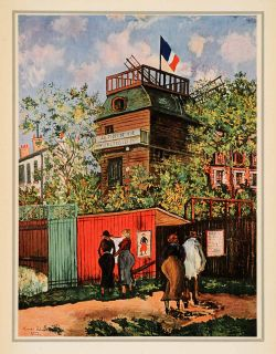 1939 Tipped in Maurice Utrillo Point Vue French Tous Jours Post