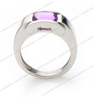 Mauboussin 18K White Gold and Amethyst Ring