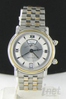 Maurice Lacroix 18K Steel Reveil Alarm Day Date Automatic Watch