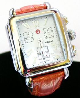 New Michele Watch Urban Square Stainless Steel Case MW02B00A0001