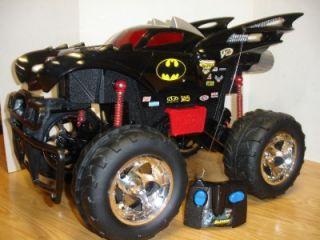 Huge Tyco RC Batman Monster Jam Radio Control Truck w Remote Batmobile