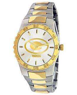 Game Time Watch, Mens Green Bay Packers Two Tone Stainless Steel