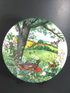 Wedgwood Meadows Wheatfields Collector Plate COA