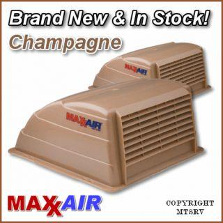 MAXXAIR Vent Cover   CHAMPAGNE   2 PACK   NEW   Max Air RV Trailer