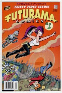 Futurama 1 Bongo Fry Bender Leela CGC 9 8 NM M WP Professor Farnsworth