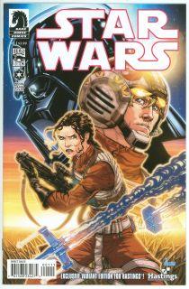 STAR WARS #1 Hastings Exclusive Variant 1st Print Dark Horse 2013 HTF