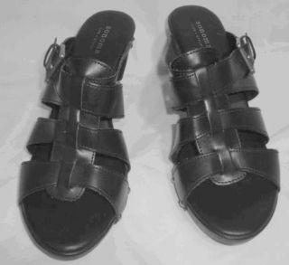 Kohls Sonoma Life Style Rorey Black Wedge Sandals Sz 10