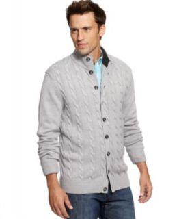 Tasso Elba Sweater, Snowflake Lambswool Blend Cardigan   Mens Sweaters