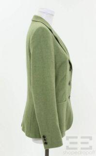 Max Mara Green Cashmere Jacket Size 8
