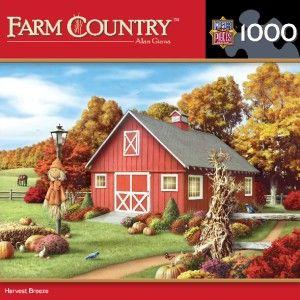Masterpieces Farm Country Harvest Breeze Jigsaw Puzzle 1000 PC