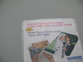 Epson Photo Heavyweight Paper Matte Glossy 8 5 x 11 Printing SEALED