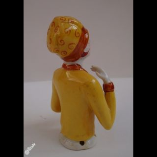 Half Doll Figurine Mata Hari Pin Up Sexy Half Doll Pincushion Art Deco