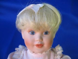 Collectible Doll MBI 1991 Baby Girl Bisque Porcelain Head Hands Feet 7