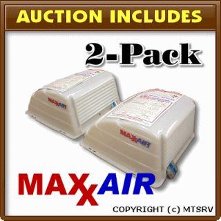 New Maxxair Vent Cover 2 PACK Translucent White   Maxx Max Air Cargo