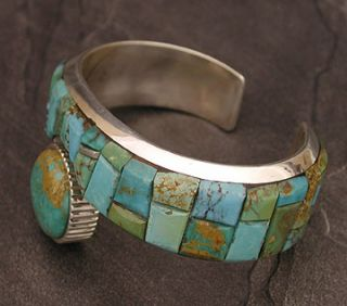 Native American James McCabe Silver Turquoise Bracelet