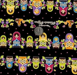 Matryoshka Russian Dolls Japanese Fabric BK Half Yard