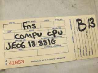 OEM ENGINE COMPUTER ECM MAZDA 929 1988 1989 FEDERAL AND CANADA JE06 18