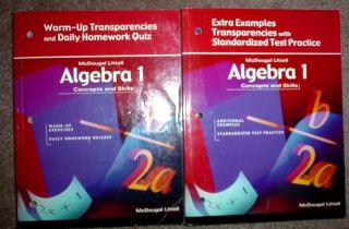 McDougal Littell Math 9th Grade 9 Algebra 1 Transparencies Teachers