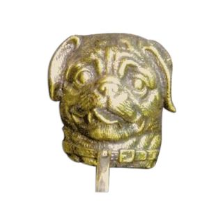 Mayer Mill Brass Decorative Polished Antique Pug Door Knocker