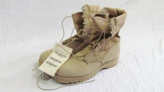 McRae Mens Hot Weather Tan Army Combat Boots 9 5 New