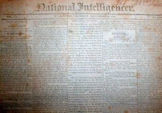 Newspaper British Burn Washington DC Battle of ft McHenry BAL