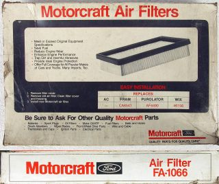 New FA1066 Motorcraft Air Filter Fits Ford Probe Mazda MX6 626