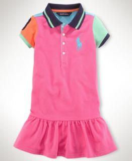 Ralph Lauren Kids Shirt, Little Girls Colorblock Polo   Kids