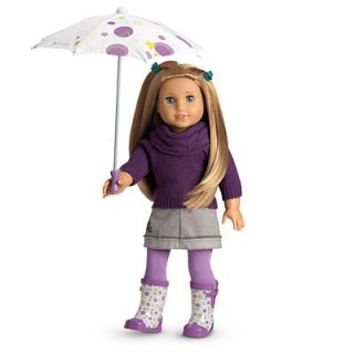 NEW NIB American Girl Doll Mckennas Rainy Day Set School Outfit 2012