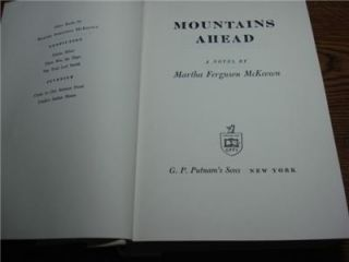 1961 HC Mountains Ahead Martha Ferguson McKeown Oregon Pioneer
