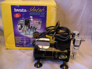 Iwata Medea Intro Airbrush Set Jet Compressor Pistol Grip Filter