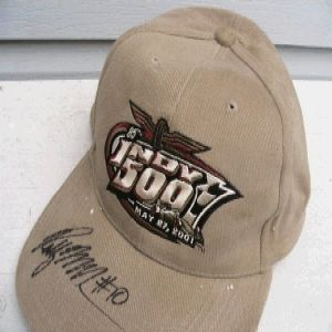Robby McGehee Signed Autograph Hat Indy 500 Racing Rookie of Year Roy
