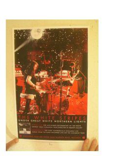 Stripes Poster Under Great White Northern Lights Band Concert Jack Meg