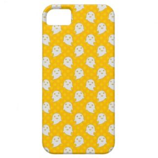 Little Ghost Pattern on Yellow Polka Dots iPhone 5 Case