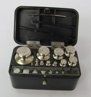 Vintage Medical Aphotecary Scale Weights Set Boxed